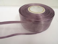 Grape light Purle satin edged organza ribbon, 2 or 25 metres, Double sided, 10mm, 15mm, 25mm, 40mm, 70mm